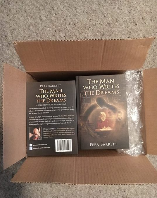 The second print run of my book The Man Who Writes the Dreams is here!