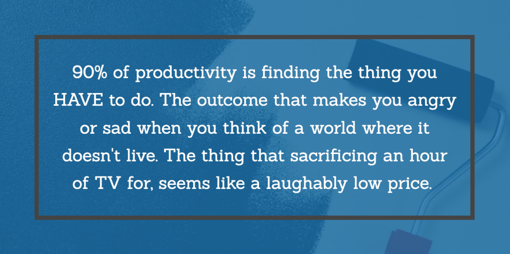 Finding the time and productivity